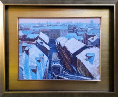 Pogled na uspinjaču i Tomićevu zimi