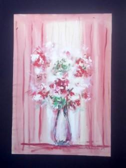 Crveno bijela cvijetna kompozicija