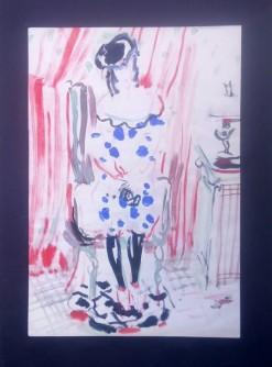 Dama u točkastoj haljini