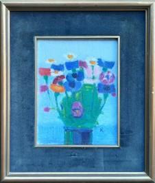 Cvijeće u plavoj vazi