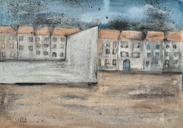 Krajolik sa kućama