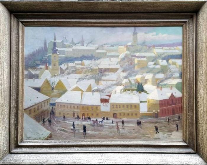Stari Zagreb, pogled sa Katedrale