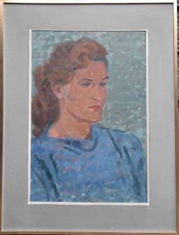 Žena u plavoj košulji