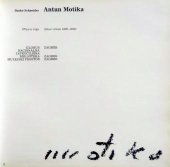 Antun Motika (izbor crteža 1930 - 1940)
