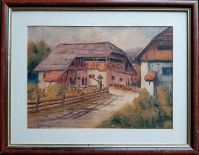 Krajolik sa seoskom kućom