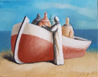 Čamac sa pet figura