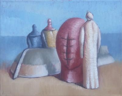 Čamac i tri figure