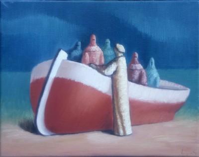 Čamac i šest figura