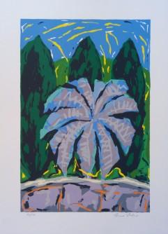 Krajolik sa palmom