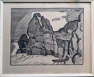 Krajolik sa stijenom
