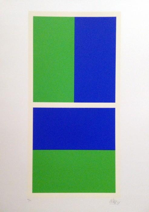 Zeleno-plava kompozicija