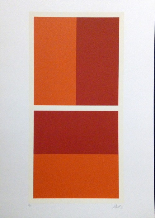 Narančasto-crvena kompozicija