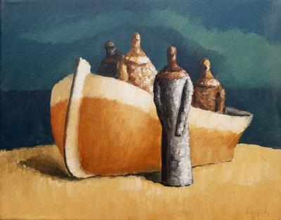 Čamac na pješčanoj plaži