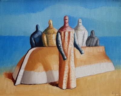 Čamac i pet figura