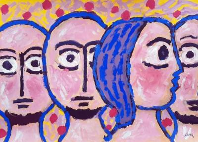 Tri muškarca i žena